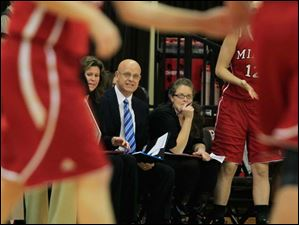 SPT BGwomen25p  Miami University assistant coach Mark Ehlen working from the bench. Ehlen is the former coach of the University of Toledo.  Bowling Green State University's women's basketball team hosts the team from Miami University in Bowling Green, Ohio on January 24, 2013. The Blade/Jetta Fraser