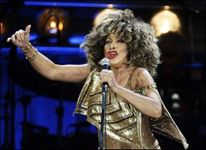 U.S. singer Tina Turner performs on stage during her concert at the Hallenstadion venue in Zuri