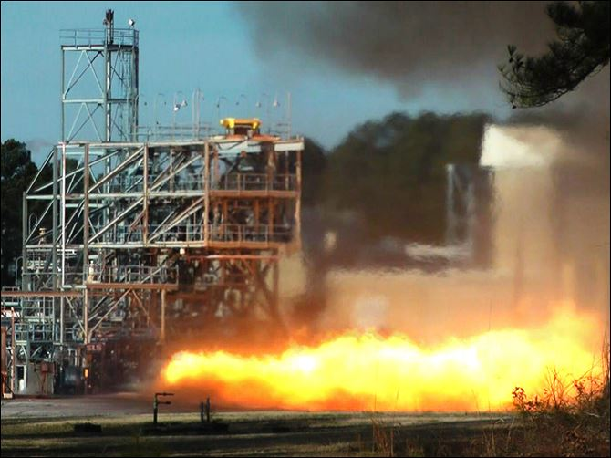 Blast from the Past In this image taken from video, NASA engineers test fire a key part of a rocket engine left over from the 1960s-era Apollo moon missions on Thursday, in Huntsville, Ala. Engineers hope to gain valuable knowledge from the engine, which was originally supposed to power the Apollo 11 moon mission in 1969 but was grounded by a problem.