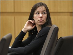 Jodi Arias appears for her trial in Maricopa County Superior court in Phoenix. Arias is charged with murder in the death of her boyfriend, Travis Alexander, and prosecution is seeking the death penalty.