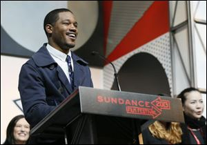Director Ryan Coogler accepts the U.S. Dramatic Audience Award for the film