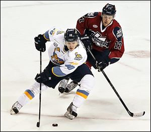 Toledo's Adam Hobson has 11 points  in 17 games this season. He had 44 points in 39 games for the Walleye in 2009-10.