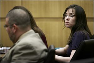 Defendant Jodi Arias appears in court for her murder trial at the Maricopa County Superior Court on Monday, in Phoenix.