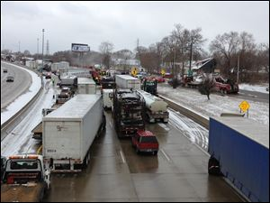 A multi-vehicle accident on south bound I-75 near Springwells Avenue, killed at least one person in Detroit.