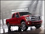 This undated photo provided by Ford, shows the 2013 Ford F-Series Super Duty Platinum truck. (AP Photo/Ford)