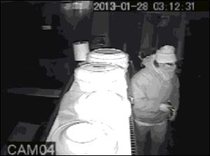 This man is sought in the break-in and robbery of the Cruise Inn in Tipton, Mich.