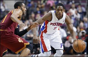 Detroit Pistons guard Brandon Knight scored 20 points and dished out 10 assists in a 117-99 win.