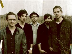 Toledo-based Sanctus Real is made up of, from left, Mark Graalman, drums; Chris Rohman, guitar; Dan Gartley, bass; Pete Prevost, guitar, and Matt Hamitt, guitar and vocals.