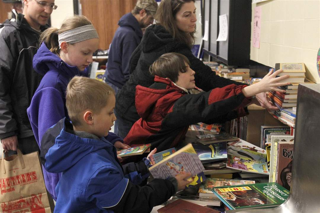 Sylvania-garage-sale-children-and-books