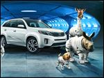In the Hyundai  Super Bowl advertisement, Kia invents a fanciful way that babies are made, blasting in from a baby planet in its