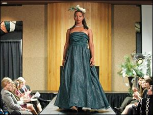 Britanie Powell models a design by Kevin Leistner.
