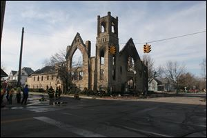 The First United Methodist Church at 301 N. Main St. was destroyed by fire in March.