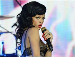Rihanna performs at the Kentish Town Forum in London.