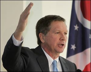 Ohio Gov. John Kasich presents his proposed two-year budget plan today in Columbus.