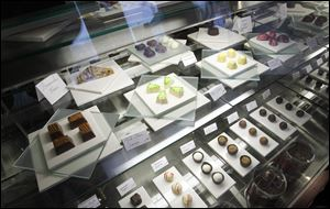 Hand crafted chocolates at Nancy Bontrager's Stella Leona artisan chocolates in Pettisville.