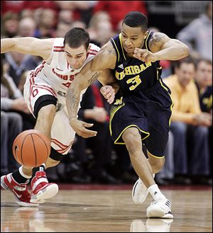 Ohio State's Aaron Craft, left, and Michigan's Trey Burke will once again battle for supremacy in the Big Ten, this time in Ann Arbor. OSU beat UM 56-53 in Columbus earlier this season.