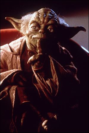 Yoda, a puppet character from Star Wars.