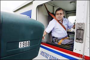Randy Warner of Oregon, a longtime postal worker,  has delivered mail on the same route in Northwood for more than three decades.