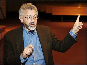 Michael Gurian, a child-psychology expert and author, speaks at St John's Jesuit High School.