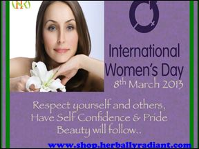 International Women's Day- at Herbally Radiant