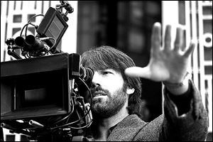 Ben Affleck on the set of 'Argo.'€ The film is nominated for Best Picture in the Academy Awards.