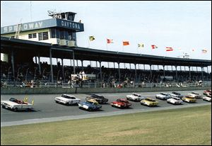 The Daytona ARCA 250 gets under way in 1964. The race was won by Nelson Stacy. The 50th Daytona race takes place on Saturday.