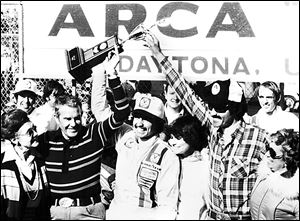 ARCA has been a springboard for many drivers. Kyle Petty, center, celebrates after winning the 1979 Daytona ARCA 200, which was his first start in the series.