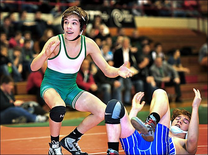 Delta state duals Jake Spiess Delta freshman Jake Spiess reacts to his win at 106 pounds in the Division III state team final against Tuslaw's Shane Johnston. The Panthers won the championship.