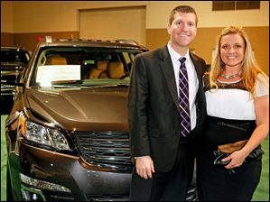 Andy Inkrott and Amy Sanders at the Toledo Auto Show Gala.