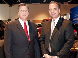 Robb Brown, left, and Paul Devers at the Toledo Auto Show Gala.