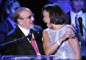 Music producer Clive Davis and singer Whitney Houston shared a long history. Last year, Whitney Houston died hours before Clive Davis' annual pre-Grammy gala went on. This year, the music executive says she'll be remembered.