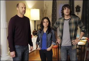 "Anthony Edwards, left, Addison Timlin and Scott Michael Foster in a scene from ""Zero Hour."" Edwards plays Hank Galliston, a magazine publisher who descends into an historical mystery after his wife is kidnapped."