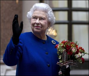 Britain's Queen Elizabeth II topped the list of 100 female figures.