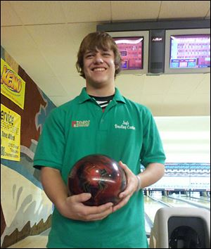 Spencer Sevrence rolled a 290 in the first game, then a 278, before finishing with a 300 for an 868 series. It was a Toledo Junior All Stars Travel League record.