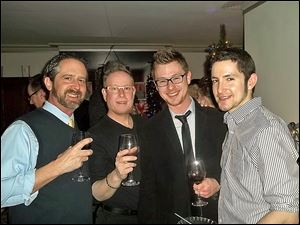 Steve Manely, David Bingham, Andrew Larsen , and Justin Snyder at Opera Ain't No Drag.