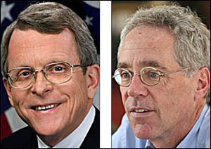 Mike DeWine, left, and Blade counsel Fritz Byers have expressed concerns about recent court rulings.
