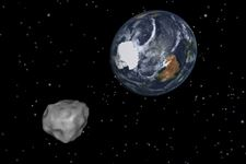 A-simulation-of-asteroid-2012-DA14-approaching
