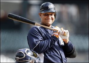 Detroit's Miguel Cabrera won the batting triple crown last season and was named the American League MVP.