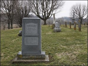 The monument to the Brown family, including Hallie Quinn Brown, stands in the Massies Creek Cemetery just outside Wilberforce, Ohio.