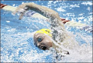 St. Ursula's Mikayla Murphy races to a win in the 200-yard individual medley.