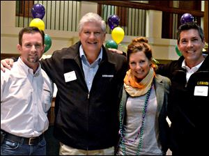 The Wells Fargo group included, from left, Jason Brady, Ed Nittinger, Kristen Mollenkopf, Bruce Davis.
