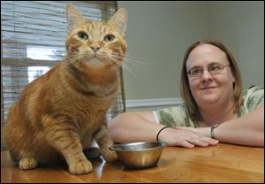 Toledoan Crystal Lawson feeds her cat Joey prescription food. Joey is recovering from urinary tract issues, which are the 'number-one problems cats have,' Dr. Gary Thompson says.