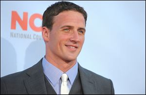 Ryan Lochte arrives at the ALMA Awards.