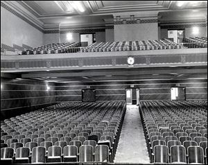 The Cherry Street Mission says it will renovate Macomber's auditorium, shown here, and its gymnasium for public use.