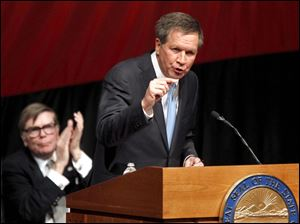 Ohio Gov. John Kasich gives his State of the State address.