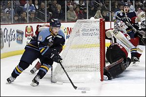 Walleye forward Nino Musitelli has scored 11 points in 14 games — including eight goals —since signing with the club on Jan. 15.