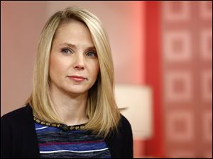 "CEO Marissa Mayer appearing on NBC News' ""Today"" show, to introduce the Web site's redesign."