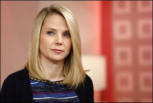 CEO Marissa Mayer appearing on NBC News'