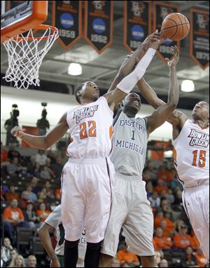 Bowling Green State University big man Richaun Holmes, 22, already has the school record for blocks in a season.