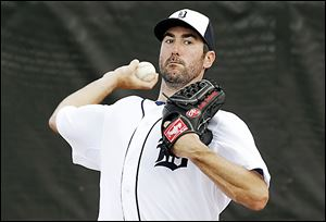 Tigers pitcher Justin Verlander has a 124-65 career record with a 3.40 ERA.